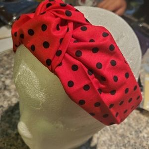Headband adult red and black